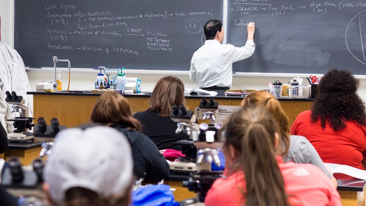 professor teaches class