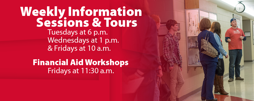 Weekly Information Sessions & Tours