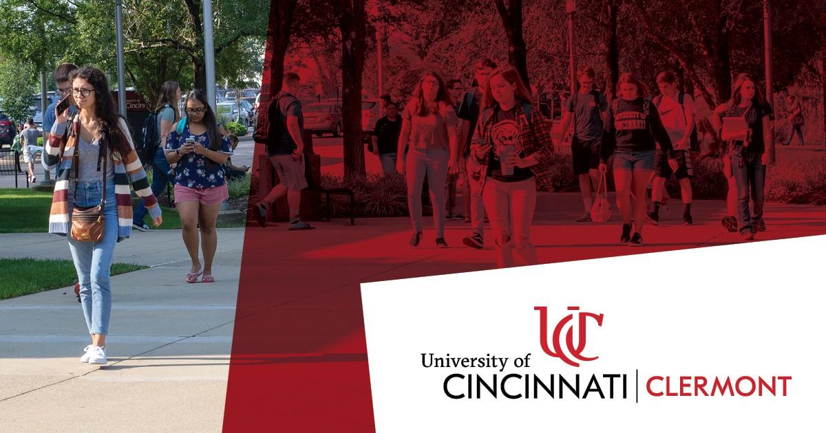 students walk across campus